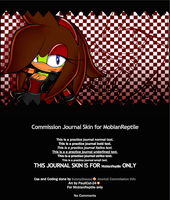 Commission Journal Skin for Mobian-Reptile by bunnydesuuu