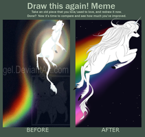 Draw this again Unicorn by insanityNothing