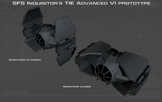 Inquisitors TIE Advanced prototype ortho [2][New] by unusualsuspex