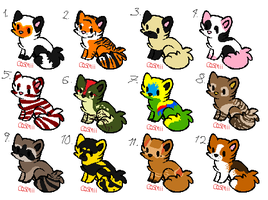 Animal Themed Kitten Adoptables (CLOSED) by DetritusDroid