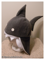 Shark Hat Charcoal by Allyson-x