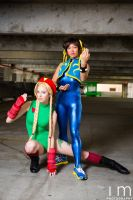 Cammy and Chun Li by MeganCoffey