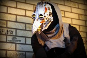 Polar Vortex - Arctic cyber plague doctor mask by TwoHornsUnited