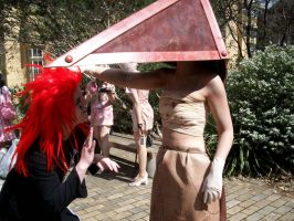 Pyramid Head say hello to Axel by Ishtarl-Demonic-Fox