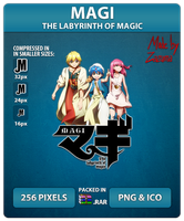 Magi: The Labyrinth of Magic - Anime Icon by Zazuma