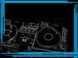 Turntables Black and Blue by RenegadeOfTrance