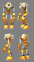 Orange Robot by Silesky