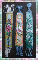 Flowers Bookmark x3 by lonely--soldier