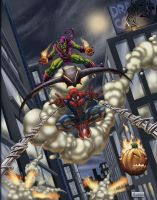 SPIDER-MAN VS. GREEN GOBLIN by HEARTBREAKKID