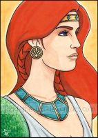 Tenel Ka - Sketchcard by Todd-the-fox