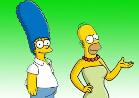 Homer and Marge Head Swap by L4Drules4