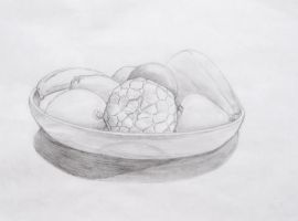 Pencil Still Life with Fruits by Raire