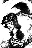James O'Barr's The Crow: Ghost of Sorrow (Ink) by GlauberMatos