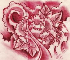 Peony sketch by WillemXSM