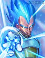 Vegeta Super Saiyan God 2 by HentaiChimp