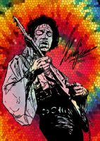 Jimi Hendrix - Stained glass by neoyurin