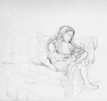 Girl in Chair by hank1