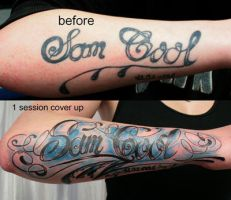 chicano lettering cover by 2Face-Tattoo