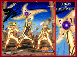 futon rasen shuriken v2 bijuu mode yellow by Naruttebayo67