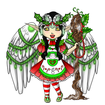 Snowdoll's Druid Christmas Elf Outfit by ItsAndromeda