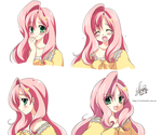 [MLP]Fluttershy -Facial Expression by SakuranoRuu