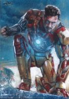Iron Man sketch card by Ethrendil