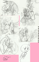 .:Original doodles and a pokemon:. by Papiwolffox640