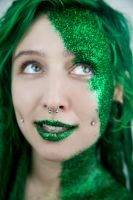 Green Glitter by WednesdayFades
