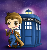 The 10th doctor by artbox99