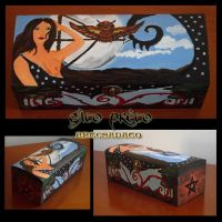 Goddess Artemis Wodden Box 2 by GatoPretoArtesanato