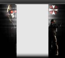Resident Evil Hunk YouTube 3.0 Layout by FadedBlackangel