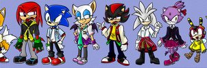 Sonic School Uniforms by Oneirio