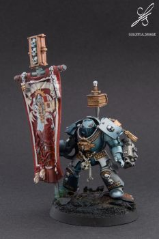Grey Knights Paladin with Pennant by Colorfulsavage