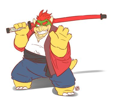 Bowser x Kumatetsu (The Boy and the Beast) by Kamui270