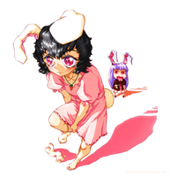 Tewi and Reisen by AGNAZOR