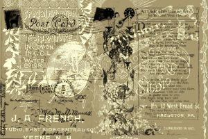 old book and postcards brushes by Annette29