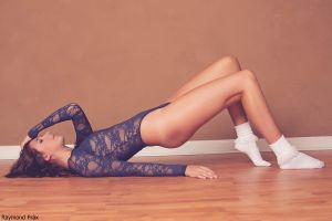 Alli in the AA Lace Bodysuit and Socks 09 by RaymondPrax