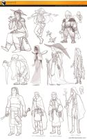 2013 Fantasy Character Sketches 01 by Zae369