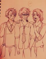 The Marauders-inked version by SilvianArt