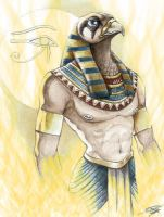 Sun God Ra by Grotesque-smile
