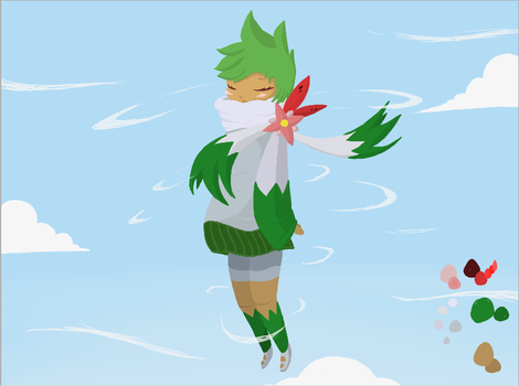 Shaymin human. by Umberondrawer