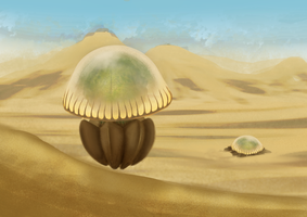 Sand Jellyfish by DigitalCrest