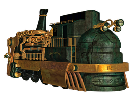 Steampunk Train 01 PNG Stock by Roys-Art