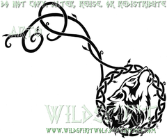 Celtic Wolf And Vine Tattoo by WildSpiritWolf