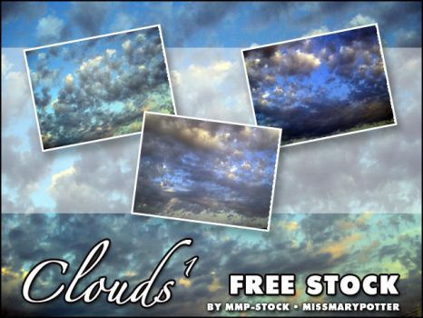 FREE STOCK, Clouds 1 by mmp-stock
