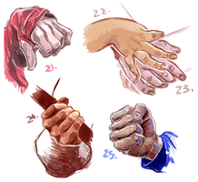 50H/50F Challenge: Hands 21-25 by TheElvishDevil