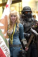 Vault Dweller and New California Republic Ranger by EminenceRain
