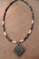 Tribal bone Necklace by NamineEveningLight