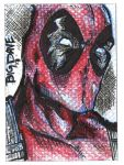 DeadPool sketch card by BiggDave