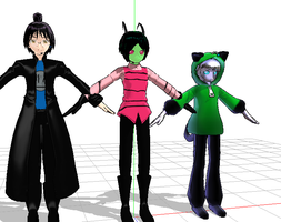 MMD INVADER ZIM MODELS DOWNLOAD by daregindemone04